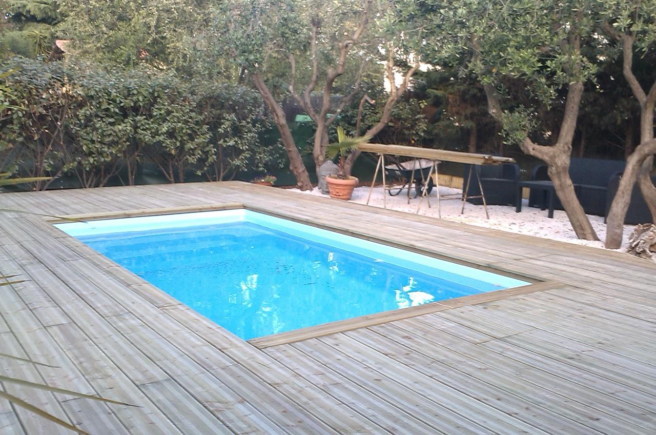 Espaces et bois r alise votre terrasse en bois habillage for Devis piscine bois